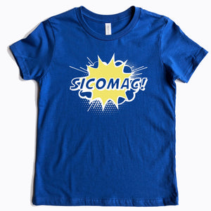 Sicomac Youth Pow Royal Blue Tee