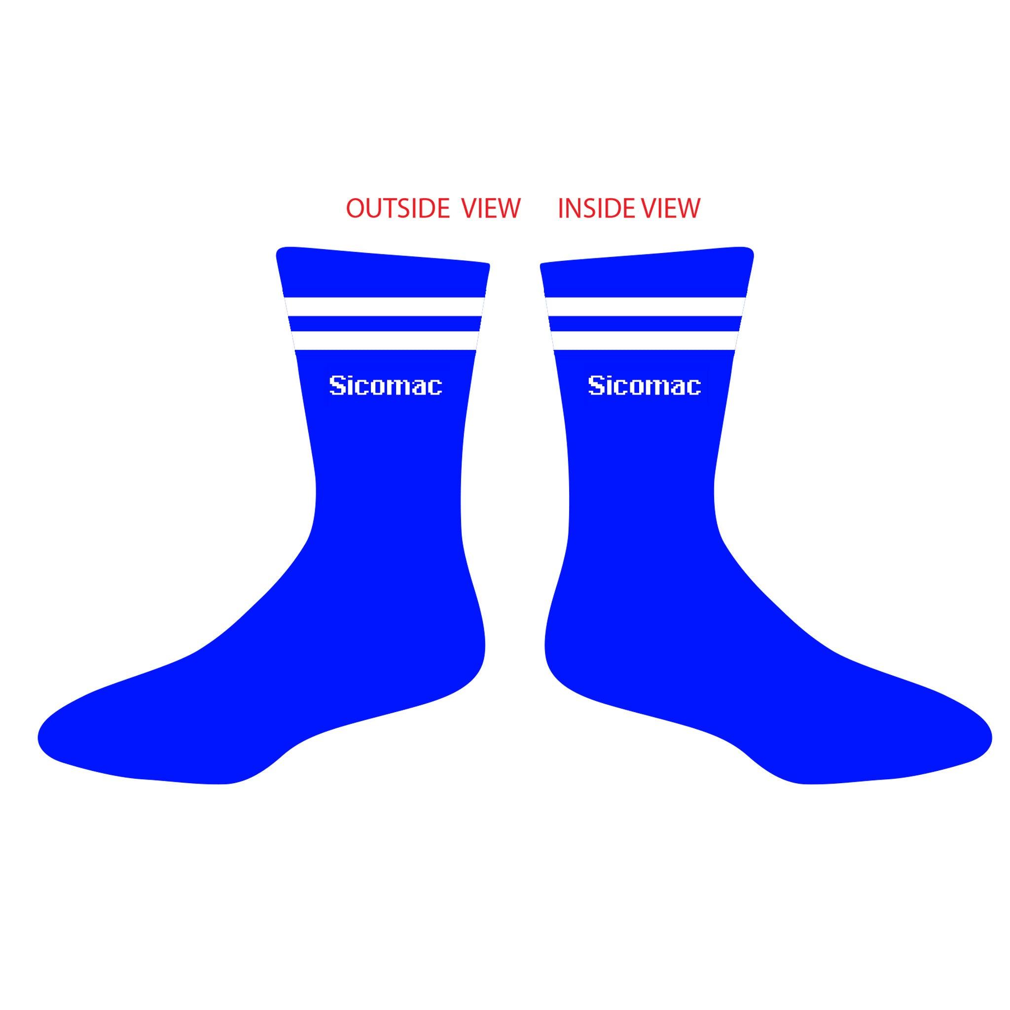 Sicomac Crew Socks - Royal Blue