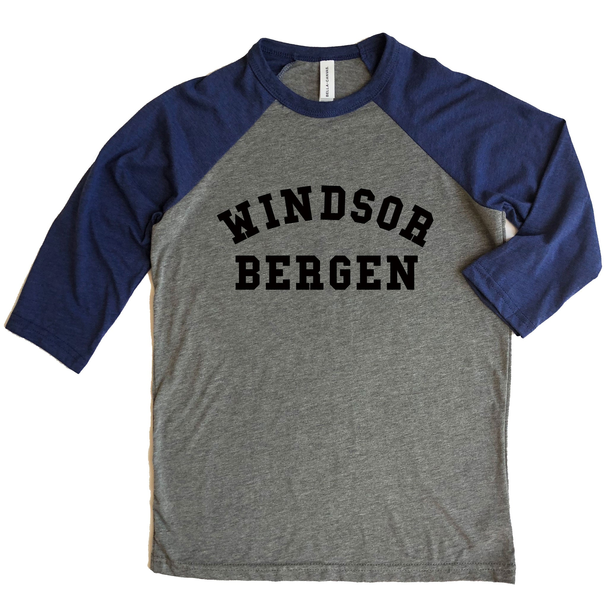 Windsor Bergen Academy Youth 3/4 Sleeve Raglan Tee