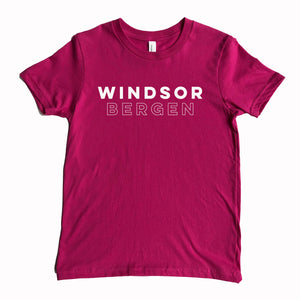 Windsor Bergen Academy Youth Berry Tee