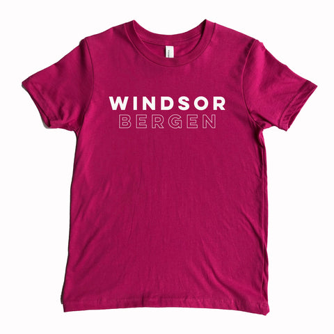 Windsor Bergen Academy Adult Berry Tee