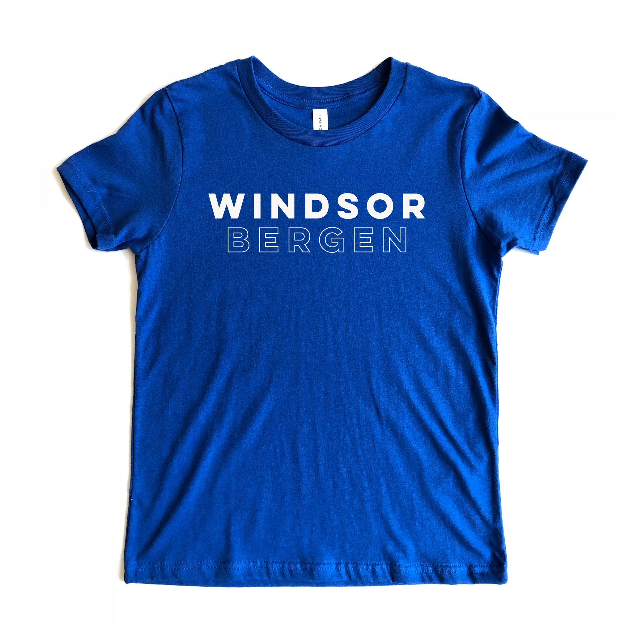 Windsor Bergen Academy Youth Royal Blue Tee