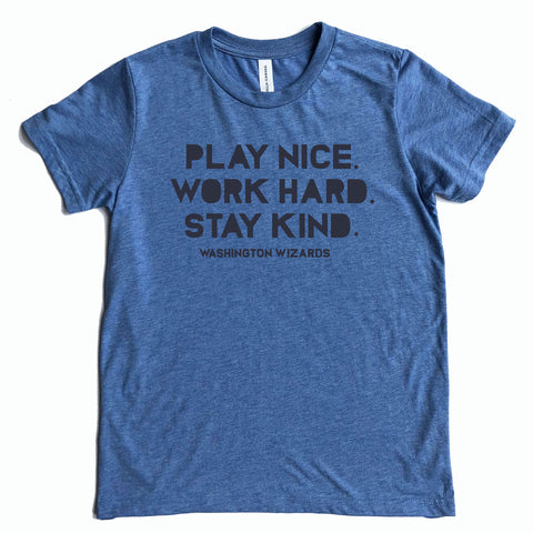 "Washington Youth Triblend ""Play Nice"" Logo Tee"