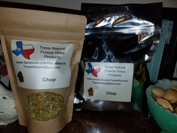 Freeze Dried Chop (Quart Bag)