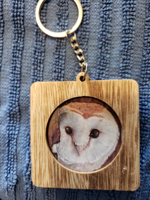 Square Owl Keychain