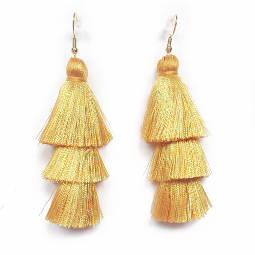 GOLD - LAYERED DROP EARRINGS - Fringe With Benefits