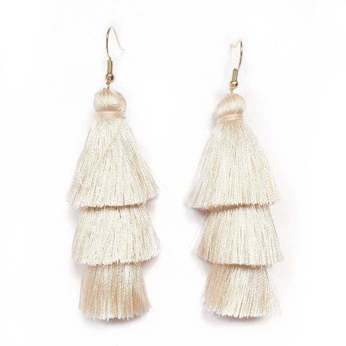 IVORY - LAYERED DROP EARRINGS - Fringe With Benefits