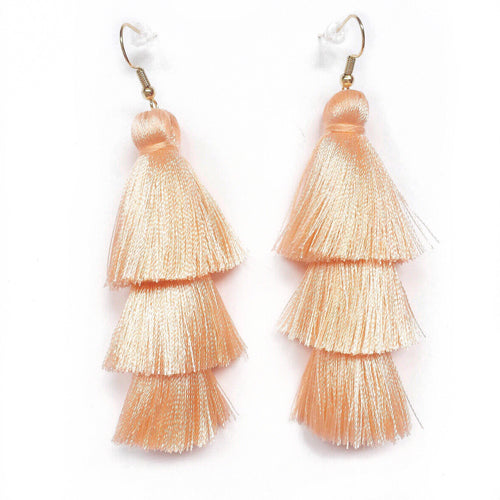 PEACH - LAYERED DROP EARRINGS - Fringe With Benefits