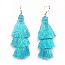 TURQUOISE - LAYERED DROP EARRINGS - Fringe With Benefits