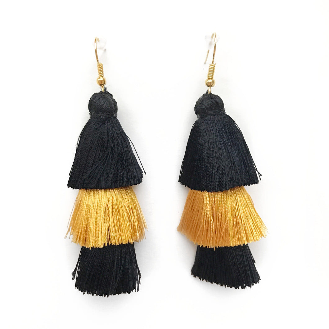 drop beaded fes large black gold main lightweight statement earrings