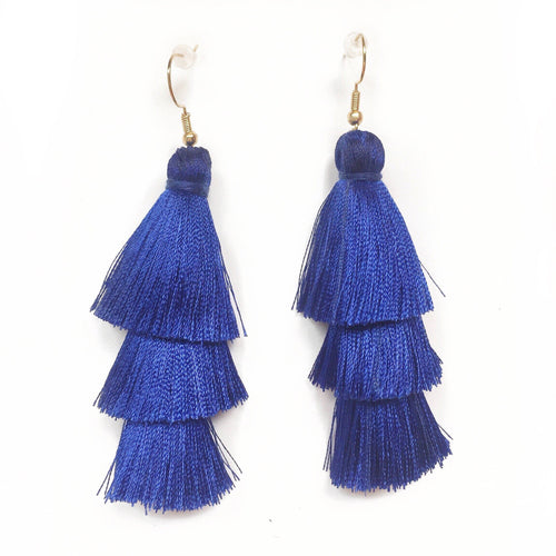 COBALT - LAYERED DROP EARRINGS - Fringe With Benefits