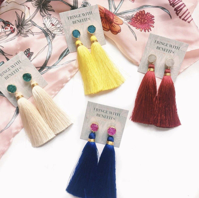 SERENA DROP EARRINGS - Fringe With Benefits
