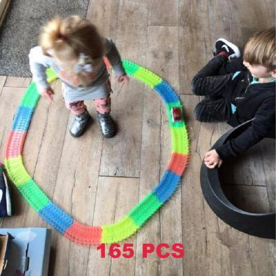 Grand Happy Store 165pcs with 1 car Magic Car Racing for Kids