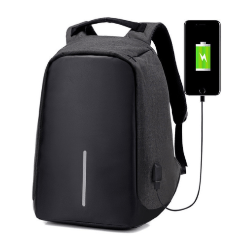 Grand Happy Store Black / 1 Qty Very Useful Anti-theft Backpack, with USB input for Men and Women.