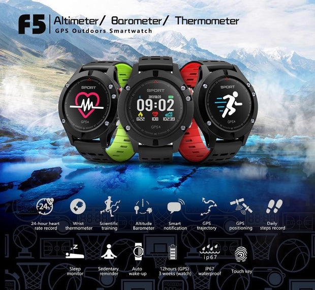 Grand Happy Store GPS Smart Watch Altimeter  Thermometer Bluetooth  GPS