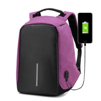 Grand Happy Store Purple / 1 Qty Very Useful Anti-theft Backpack, with USB input for Men and Women.
