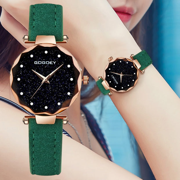 6 Colors Women Starry Sky Waterproof Watch - Grand Happy Store