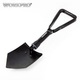 WORKPRO Military Tactical Folding Shovel Survival Spade Outdoor Emergency Camping Tool