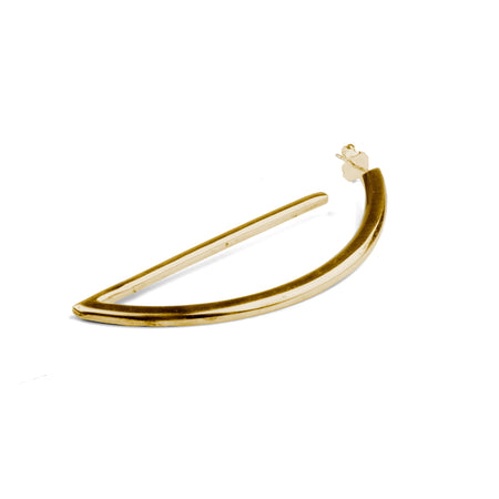 Oval Hoop Earring Single