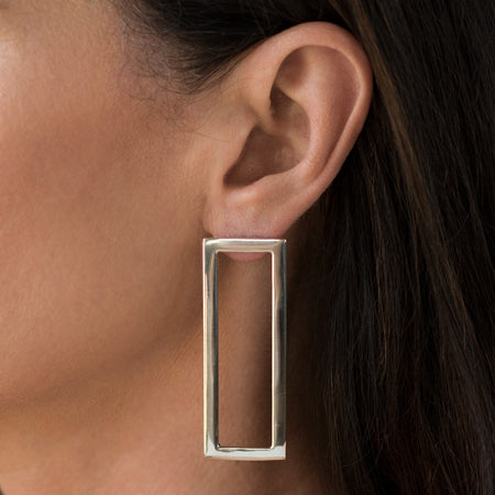Rectangle Earring Single