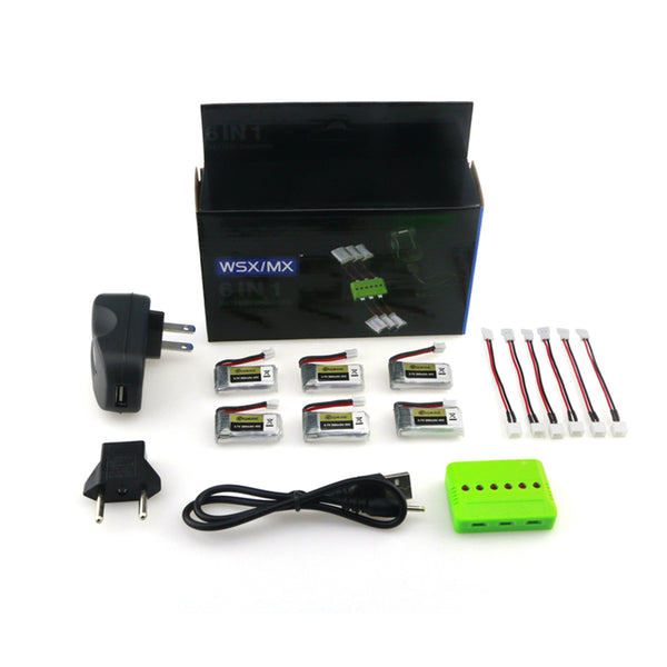 Eachine E013 FPV 6PCS 3.7V 260MAH 45C LIPO Battery Charger