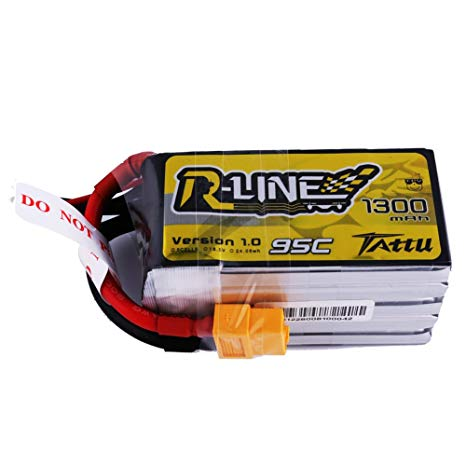 Tattu R-line 5S 1300mah Lipo Battery Pack with XT60 Plug
