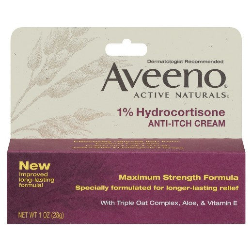 Aveeno Active Naturals Anti-itch Cream 1%