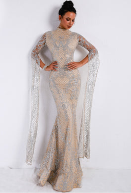 High Neck Evening Gown - Rated Star