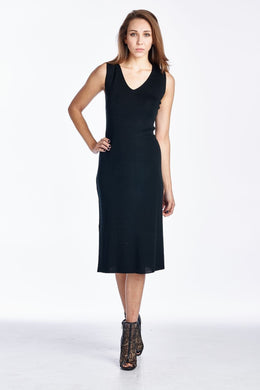 Women's Wool Sweater Dress with Ball Trim - Rated Star