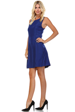 Women's Round Neck Sleeveless Dress - Rated Star
