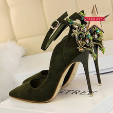 Anabelle Crystal Pointed Heels (More Colors Available) - Rated Star
