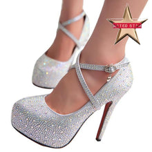 Anastasia Rhinestone Glitter High Heels (More Colors Available) - Rated Star