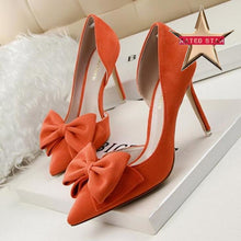 Bowtie Pumps Cross Strap High Heels (More Colors Available) - Rated Star