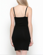 Black Cami Dress w/ Adjustable Straps - Rated Star