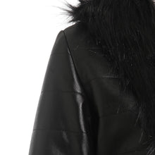 Long Faux Leather and Fur Jacket - Rated Star