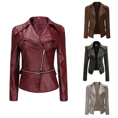 Tunic Faux Leather Jacket - Rated Star