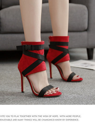 Strap Heels (More Colors Available) - Rated Star