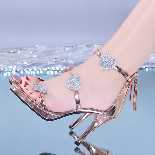 Tiffani Heart Crystal Heels (More Colors Available) - Rated Star