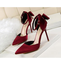 Bow Tie Strap Heels (More Colors Available) - Rated Star