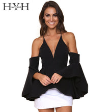 Off Shoulder V-Neck Flare Backless Top - Rated Star