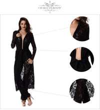 Luxury Black Lace Coat