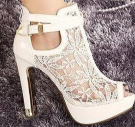 Lynn Lace Mesh Heels (More Colors Available)
