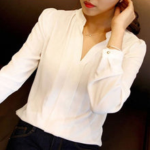 V-neck Chiffon Top  (More Colors Available)