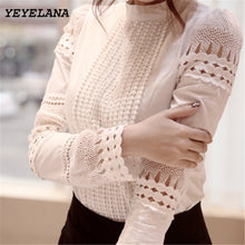 YEYELANA Women Blouses 2017 Spring Summer Long Sleeve Shirt Women White Lace Blouse Camisas Femininas Woman Tops Clothes A002 - Rated Star