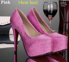 Vivianna Rhinestone High Heel Pumps (More Colors Available)