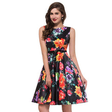 Women Summer Dress 2017 plus size clothing Audrey hepburn Floral robe Retro Swing Casual 50s Vintage Rockabilly Dresses Vestidos - Rated Star