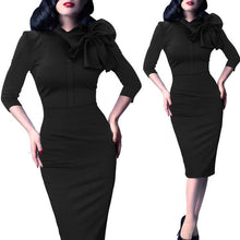 Vintage Pinup Pencil Dress (More Colors Available) - Rated Star