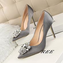 Rhinestone Satin High Heels (More Colors Available)