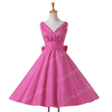 Vintage Polka Dot Dress (More Colors Available) - Rated Star