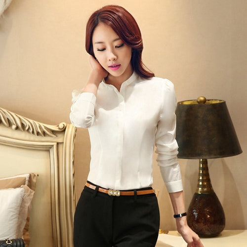 Alissa Long-Sleeve Blouse (More Colors Available)